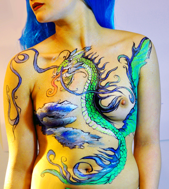 Bodypainting-Dragon-Holland-Looklab